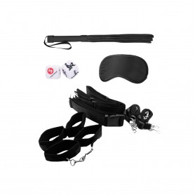 OUCH! LEATHER WHIP METAL BLACK - Prazer 24 ®