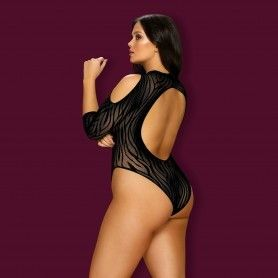 BABYDOLL AND THONG CR-4085 BLACK - Prazer 24 ®