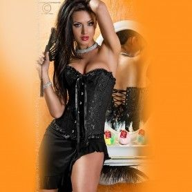 CORSET AND THONG CR-3068 - Prazer 24 ®